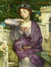 "Poynter's ""Lesbia and her sparrow"""