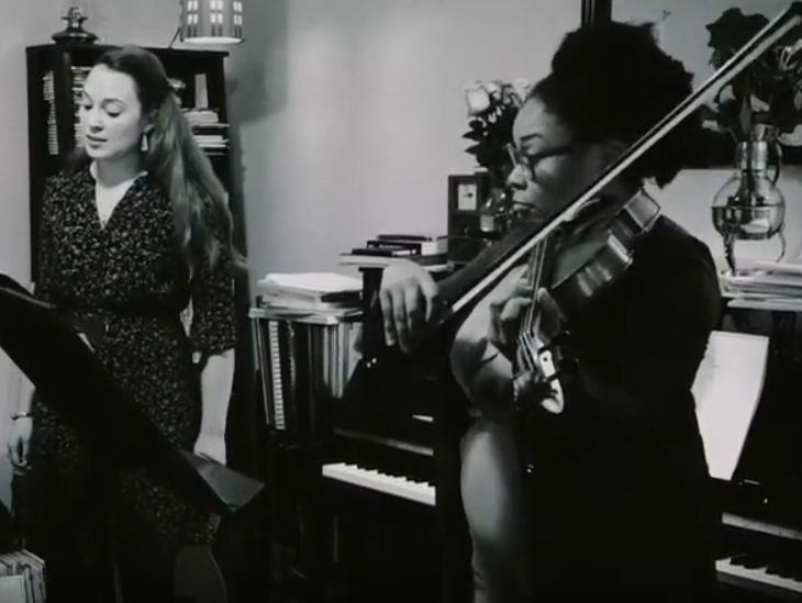 Our latest performance features a local poet's words set for soprano and viola.